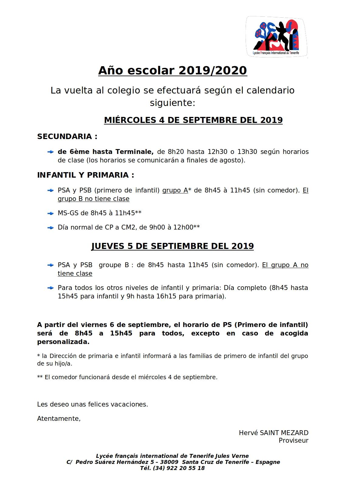 Calendario Escolar 2020 Las Palmas.Bienvenidos Al Liceo Frances Internacional De Tenerife