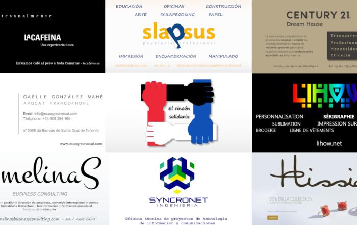 Empresas anunciadas en el rincón solidario