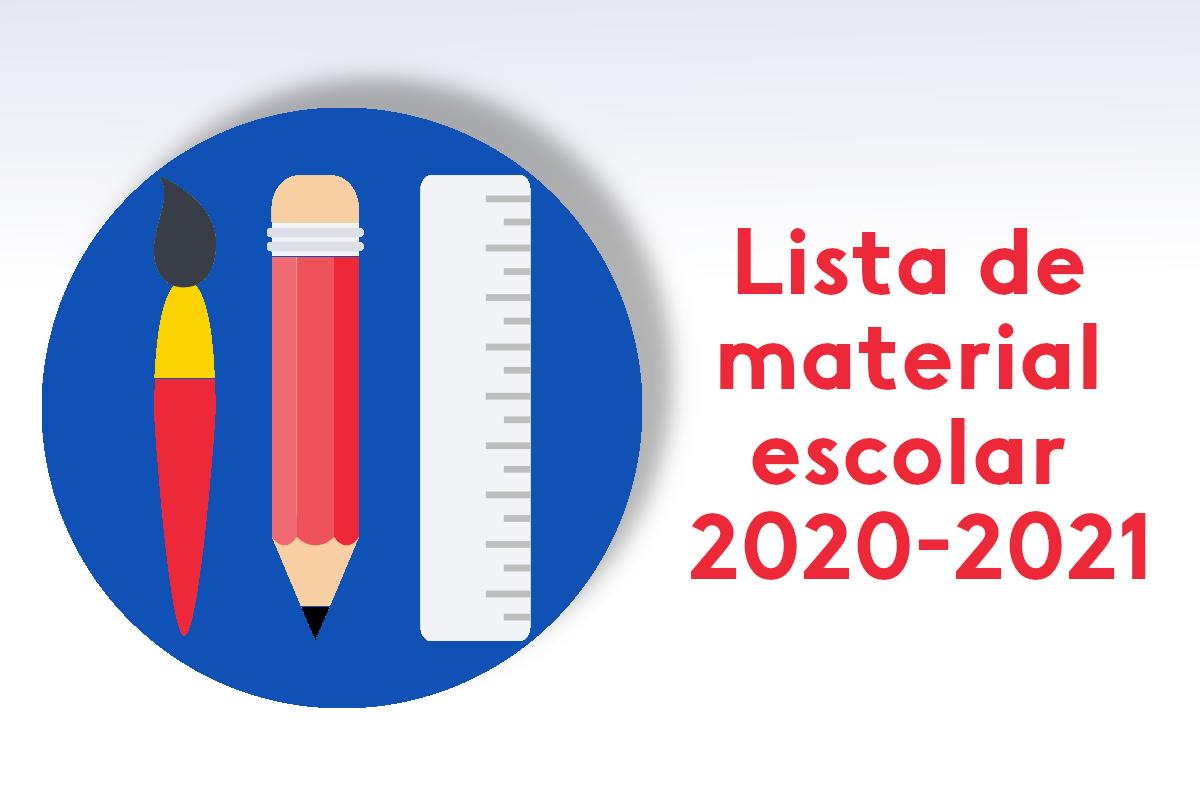 Lista material escolar 2020-2021