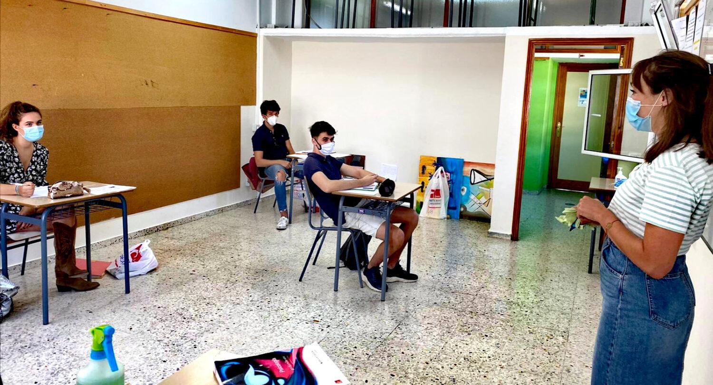 Alumnos de terminale en su aula