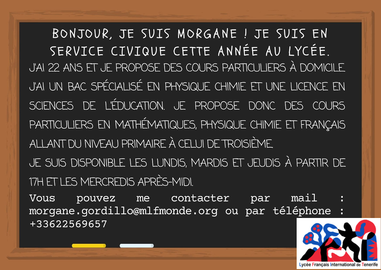 Cours particuliers Morgane