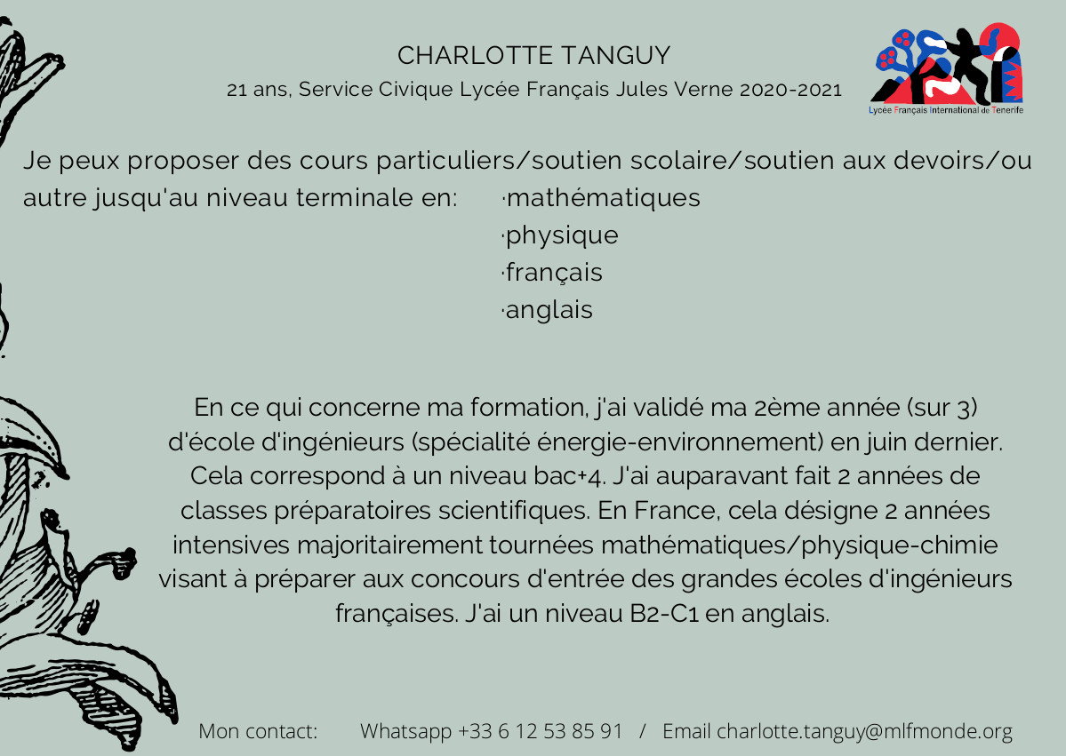 Clases particulares Charlotte