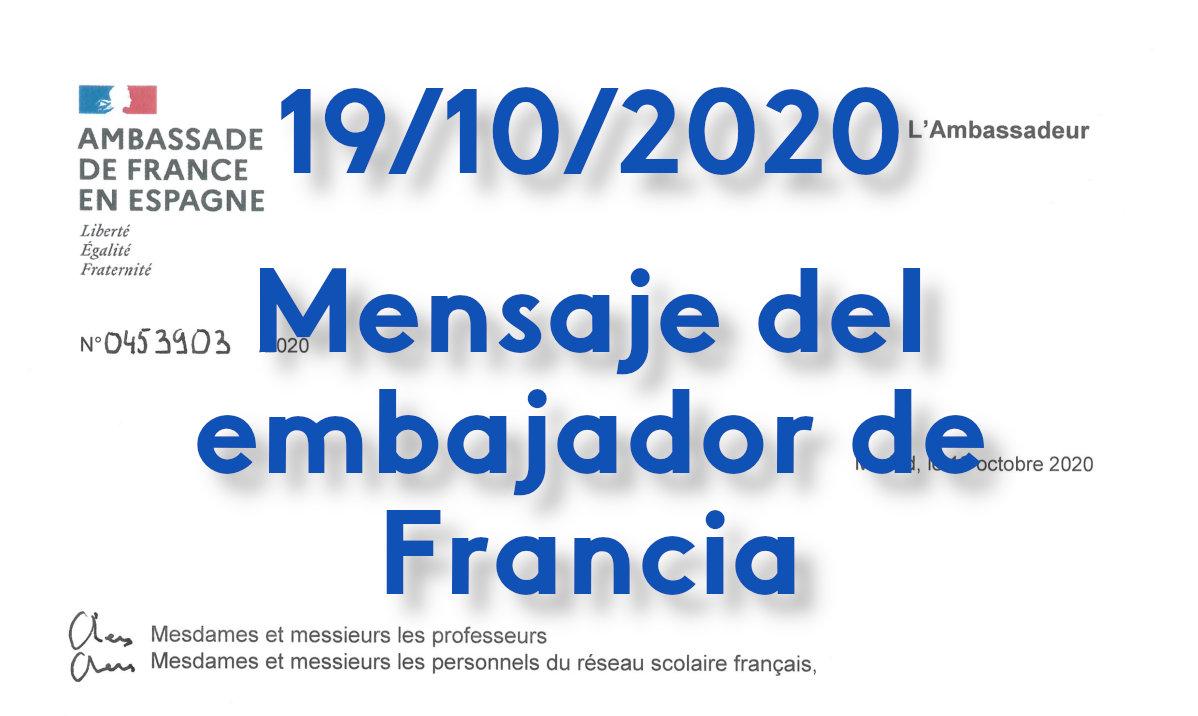 Mensaje del embajador de Francia