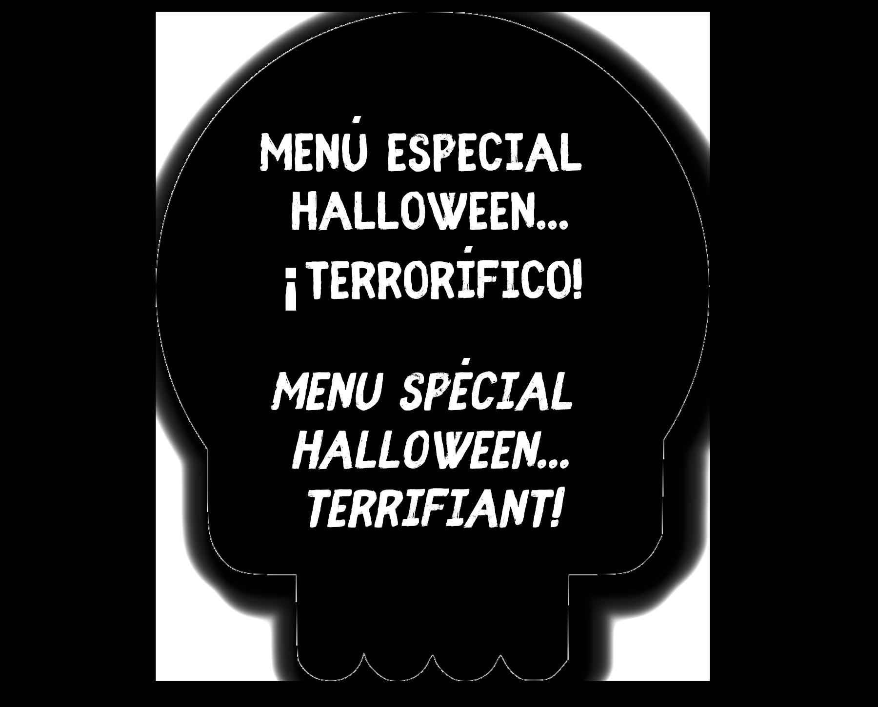 Menú especial Halloween