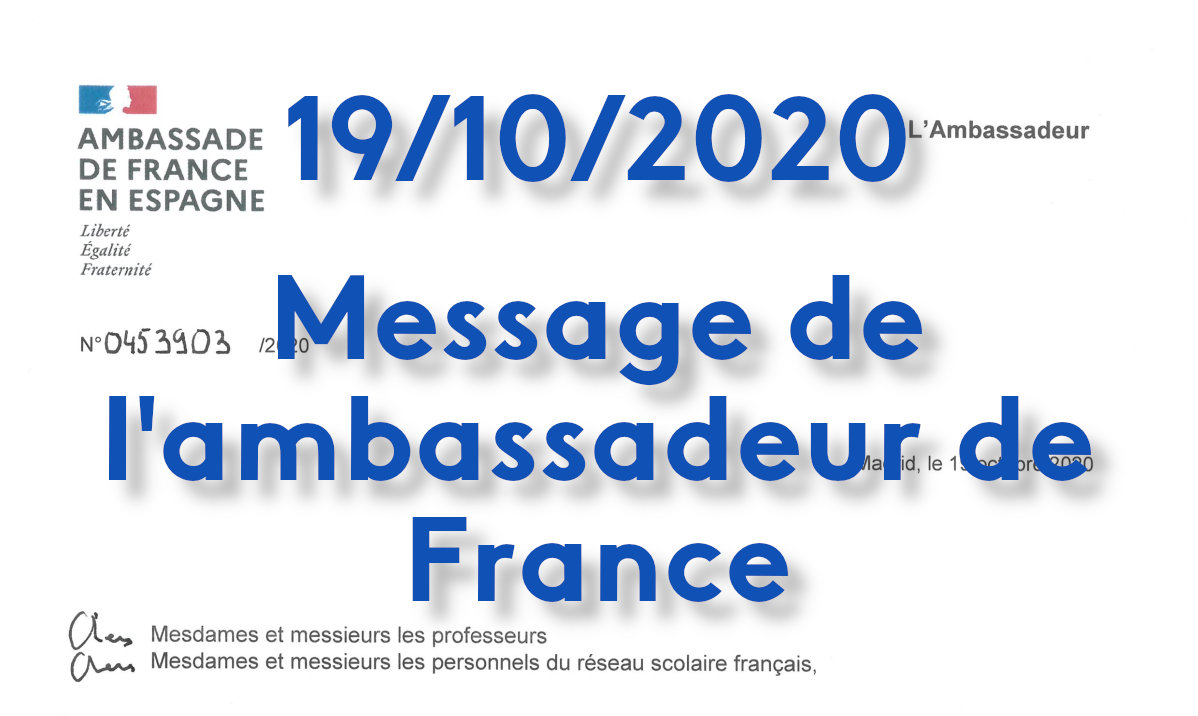Message de l'ambassadeur de France
