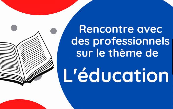 Affiche soirée des métiers sur l'éducation